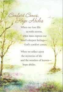 Front of Sympathy Card