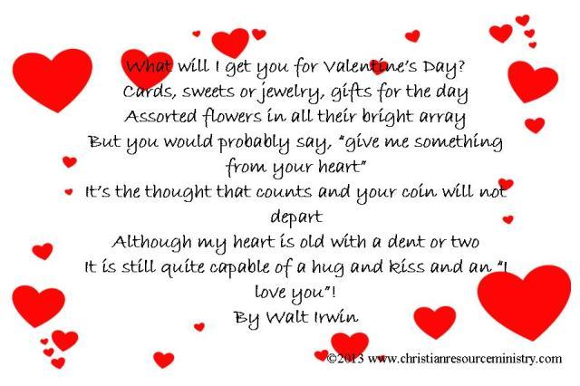 Walt's Vday verse