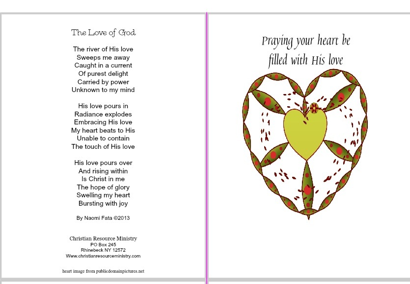 Free Printable Cards  Christian Resource Ministry