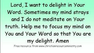 Lesson 6 Psalm 1 verse