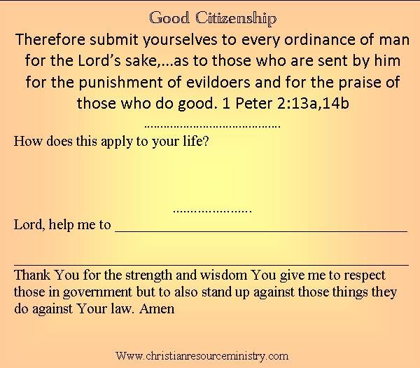 Lesson 12 daniel 3 good citizenship