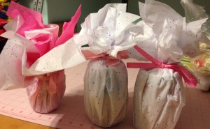 Gift wrap the jars