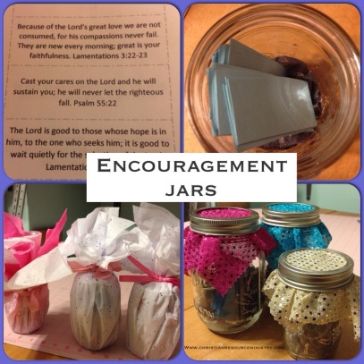 make your own encouragement jar with Scripture